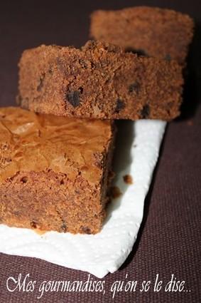 Recette de brownies aux pépites de chocolat