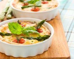 Recette mini quiche aux tomates cerises et asperge