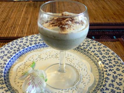 Recette de verrine de champignons des bois en cappuccino