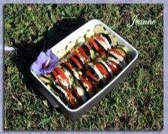 Recette tian aux légumes et mozzarella