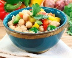 Recette salade de pois chiches aux poivrons
