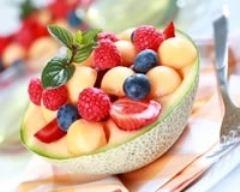 Recette salade de melon et framboises