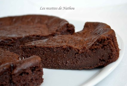 Recette de moelleux-fondant au chocolat noir et à la banane