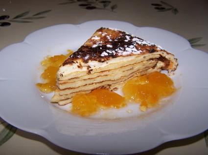 Recette de gâteau de crêpes nature
