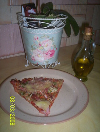 Recette de pizza lardons, bacon et poivrons