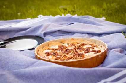 Recette de tarte chèvre-figues-noix