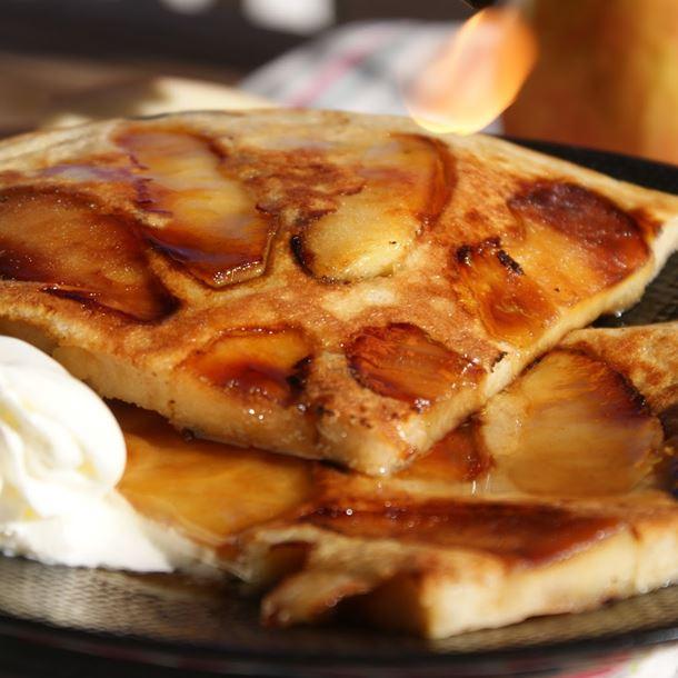 Recette crêpe épaisse aux pommes