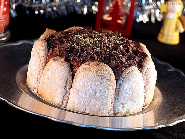 Charlotte de noël  notre recette avec photos  meilleurduchef.com