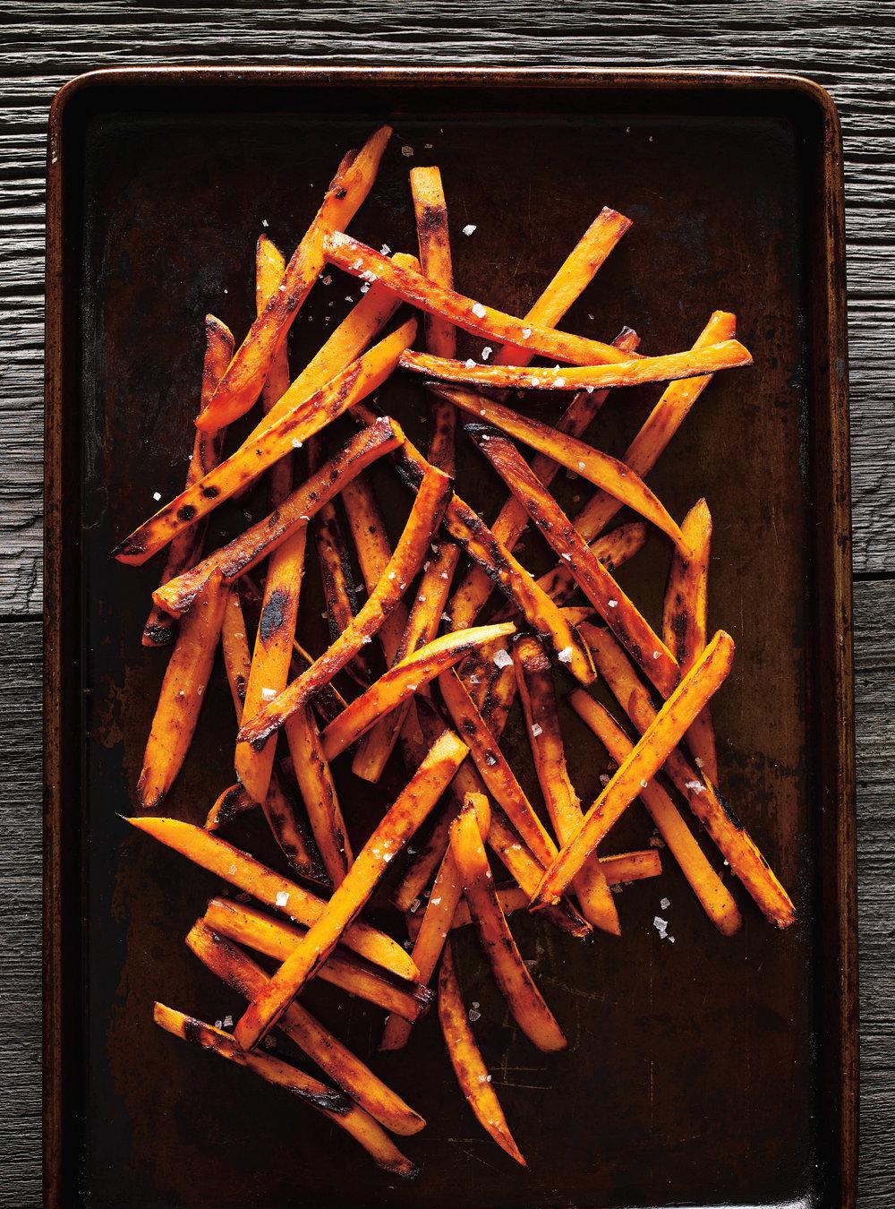 Bâtonnets de patates douces sucrées-salées   ricardo