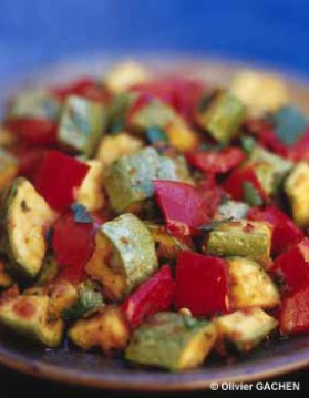 Salade printanière à la coriandre pour 4 personnes