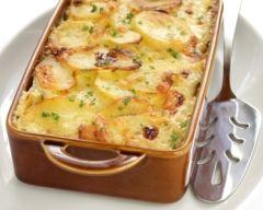 Recette gratin de pommes de terre aux poireaux facile