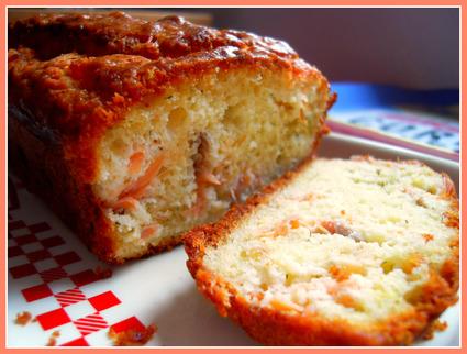 Recette de cake citronné au saumon fumé