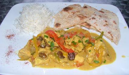 Recette de curry de poulet aux légumes