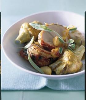 Filet mignon et artichauts rôtis à la sauge pour 4 personnes ...