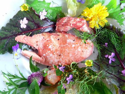 Recette de salade de crabe sur lit de verdures printanières