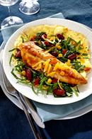 Recette omelette pliée sur maquereaux tex-mex et sa salade d ...