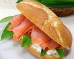 Recette sandwichs au saumon fumé, fromage blanc et ciboulette