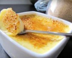 Recette oeufs au lait à la vanille façon crème brûlée