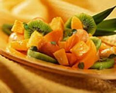 Recette salade de fruits exotiques au gingembre