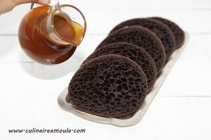 Recette de baghrir au chocolat et à l'eau gazeuse
