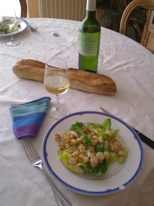 Recette de pétoncles en salade