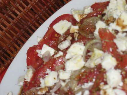 Recette de salade de tomates et feta