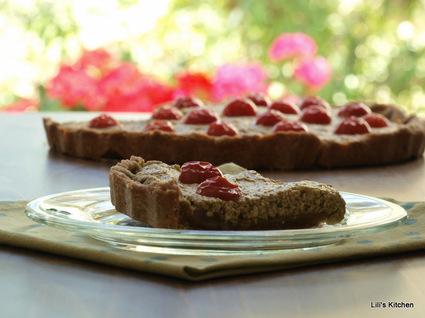 Recette de tarte sans gluten pesto d'épinards tomates cerises