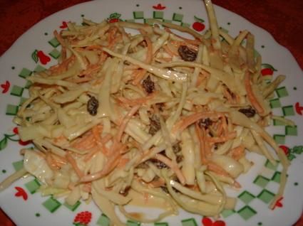 Coleslaw au yaourt et raisins secs