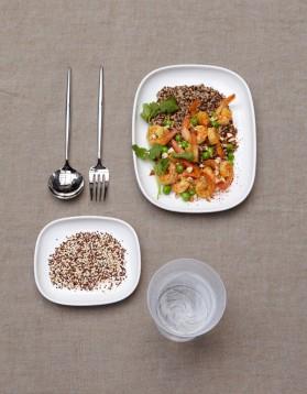 Risotto de quinoa aux crevettes pour 4 personnes