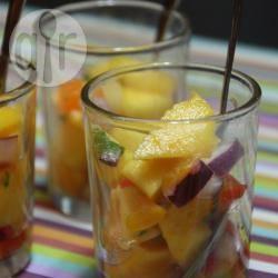 Recette salsa mangues pêches pour l'apéritif – toutes les recettes ...