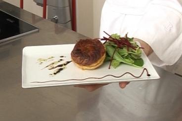 Recette de tourtière de foie gras, champignons et châtaignes ...