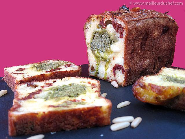 Cake tomate/mozzarella au pesto  fiche recette avec photos ...