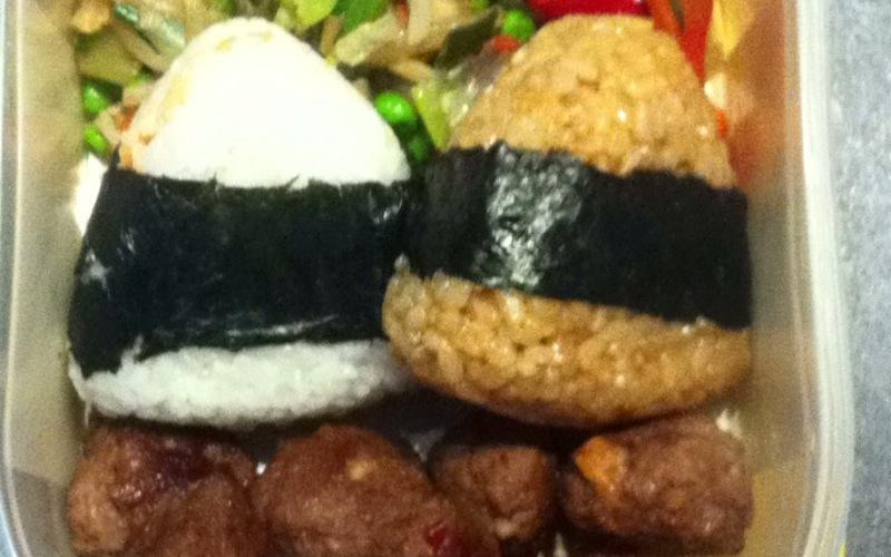 Recette bento boeuf teriyaki, duo d'onigiris économique > cuisine ...