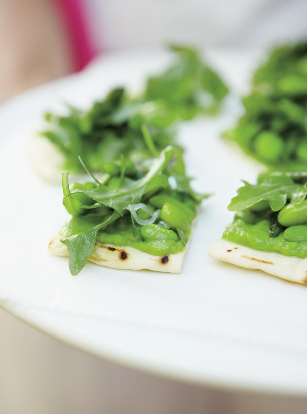 Pitas grillés aux légumes verts | ricardo