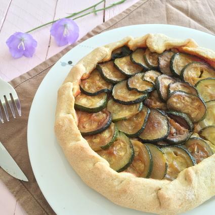 Recette de tarte légère courgette, aubergine et tomate