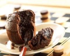 Recette moelleux au chocolat avec son coeur fondant