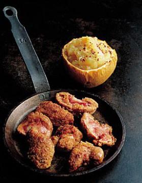 Rognons panés et compote de pommes pour 4 personnes