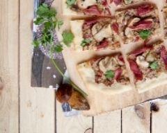Recette pizza bianca ai funghi porcini