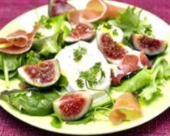 Recette salade minceur de figues à la mozzarella