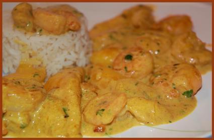 Recette de curry de crevettes à la mangue