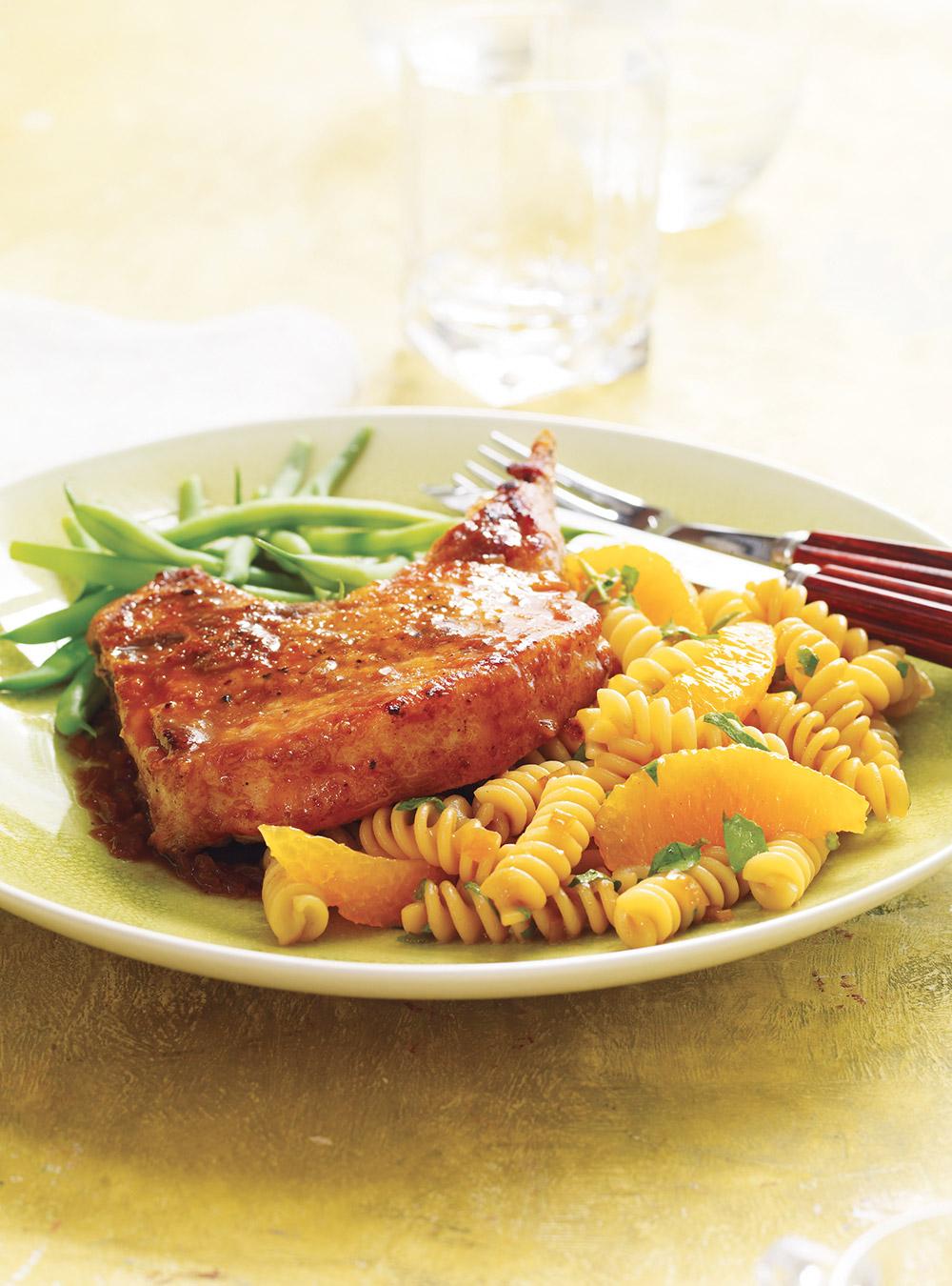 Côtelettes de porc à l'orange | ricardo