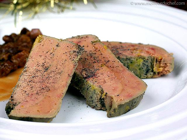 Pressé de foie gras, chutney d'abricot et fruits secs  notre recette ...
