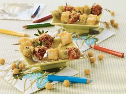 Recette de mini brochettes de fruits craquantes