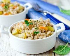 Recette risotto de millet carotte-courgette