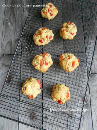 Recette de cookies poivrons pancetta