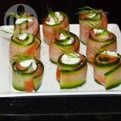 Recette roulés au saumon et concombre – toutes les recettes ...
