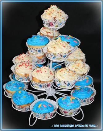 Recette de cupcakes pêches-canelle et chocobon