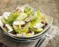 Recette salade de pommes, chèvre et champignons