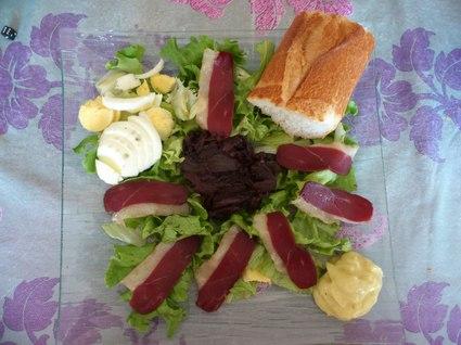 Recette de sandwich à l'assiette
