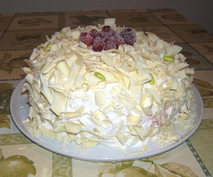 Recette de gâteau aux framboises et au chocolat blanc